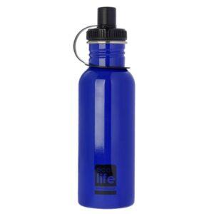 Θερμός μεταλλικό Blue 600ml [33-BO-1005]