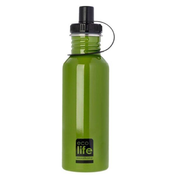 Μεταλλικό μπουκάλι 600ml - Green [33-BO-1004]