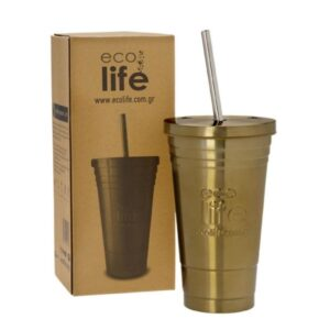 Coffee Thermos Cup 450ml - Bronze [33-BO-4008]