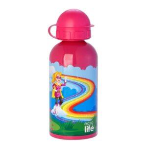Ανοξείδωτο μπουκάλι παιδικό 500ml - Super Girl [33-BO-2008]