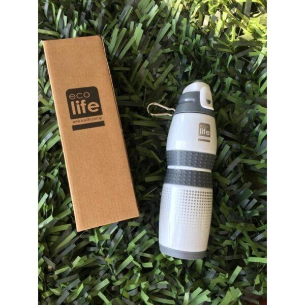 Μεταλλικό μπουκάλι 400ml - Vacuum White [33-BO-3014]