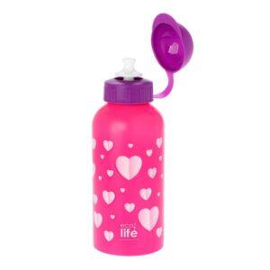 Μεταλλικό μπουκάλι παιδικό 500ml - Hearts [33-BO-2011]