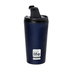 Coffee Thermos Blue - Black 370ml [33-BO-4016]