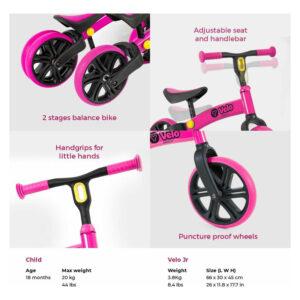 Ποδήλατο ισορροπίας Yvelo Jr Pink 2018 [53.101050]