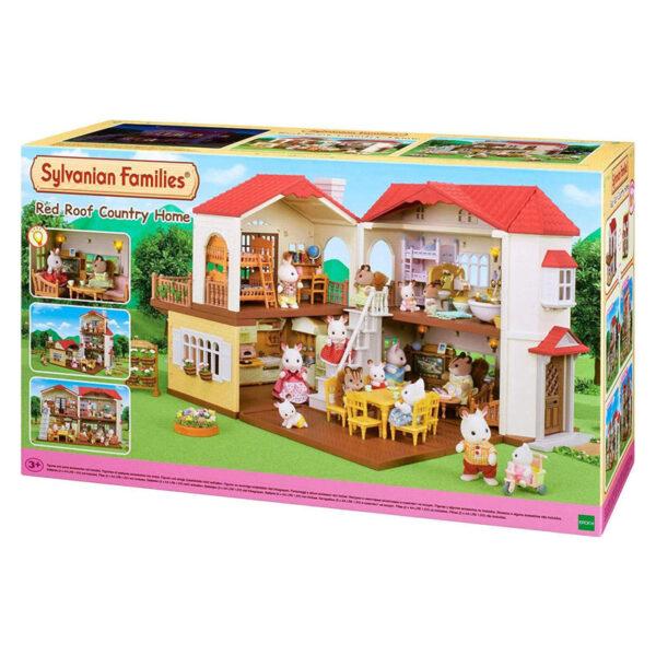 Sylvanian Families - διώροφο σπίτι με κόκκινα κεραμίδια [5302]